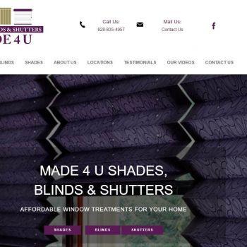 Made 4 U Shades Blinds & Shutters